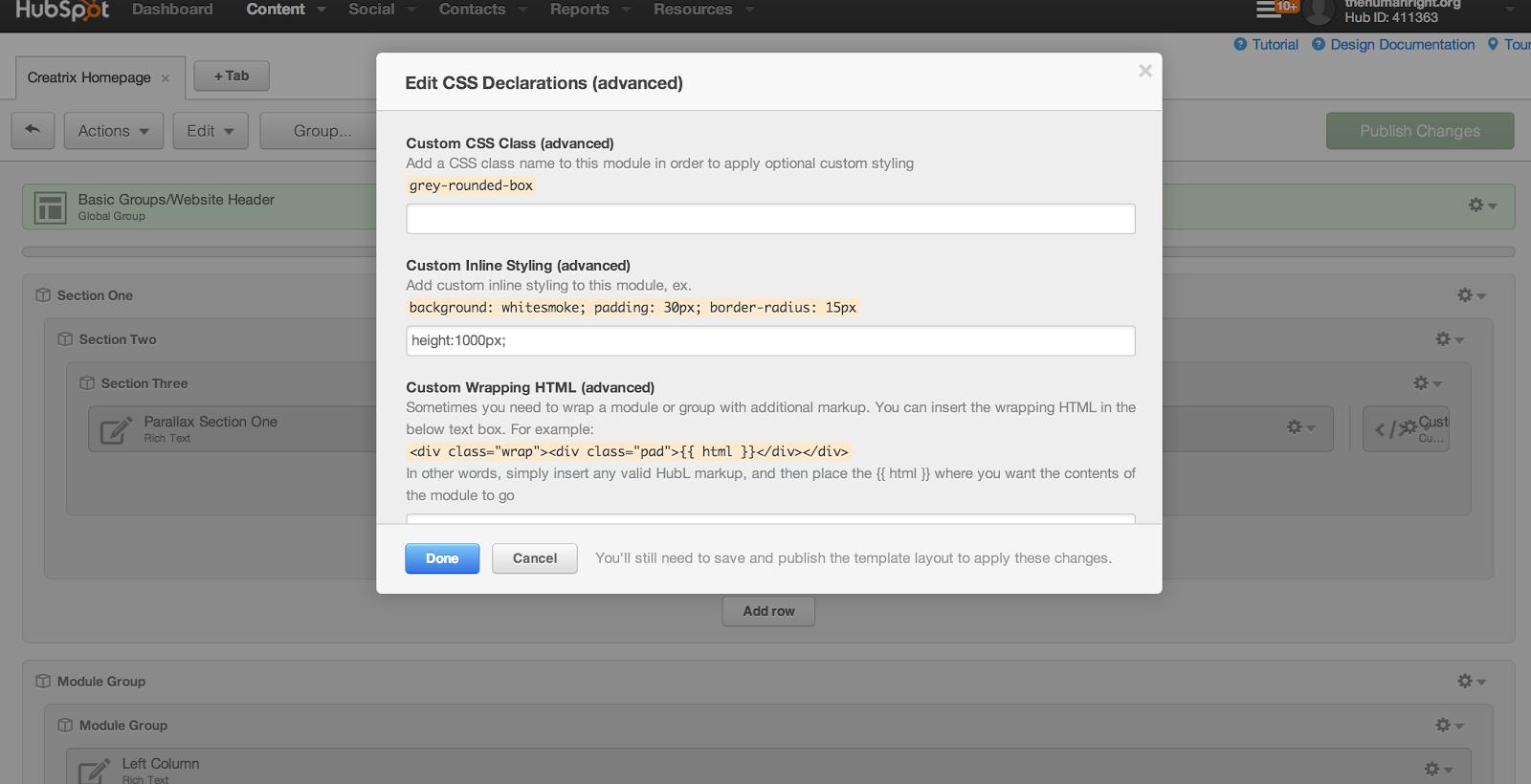 Edit CSS Declarations