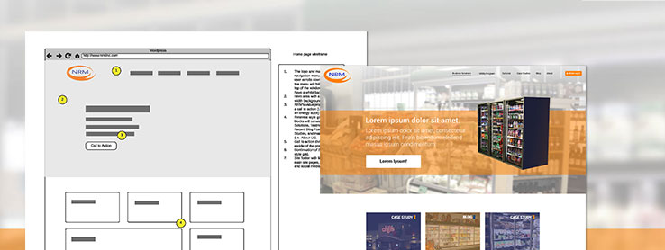 Wireframe and Homepage