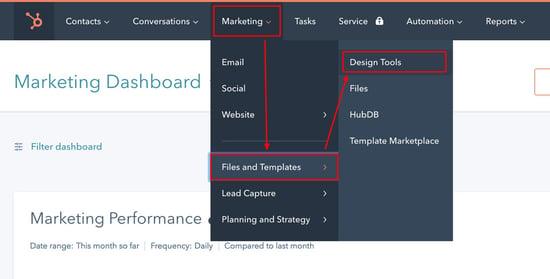 HubSpot CMS Design Manager