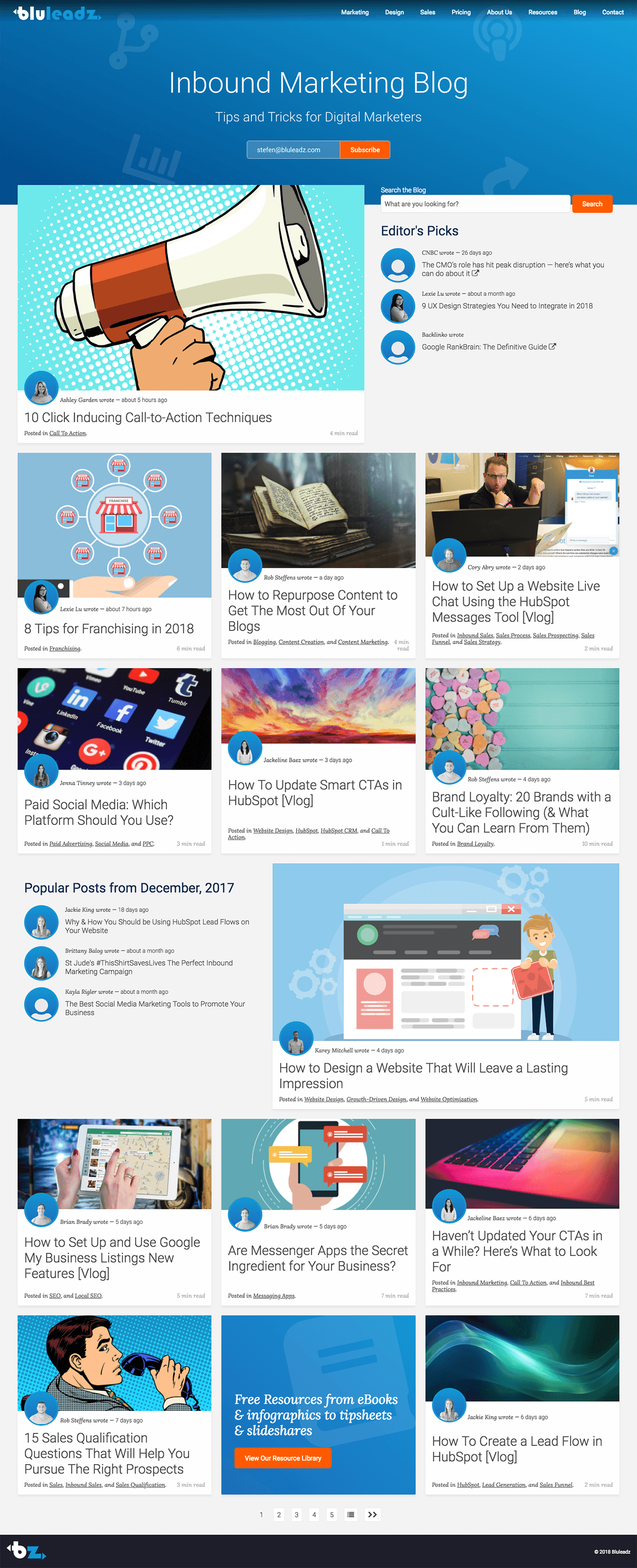 Bluleadz Blog - Desktop