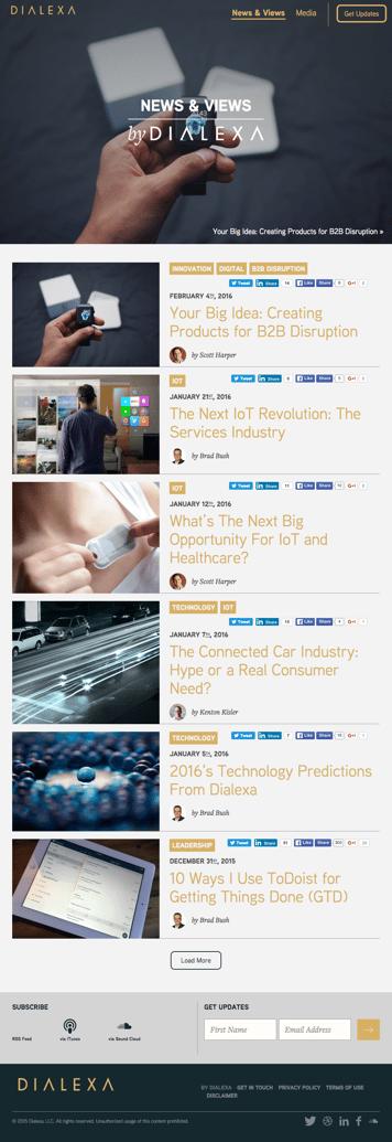 Dialexa Blog -Tablet View