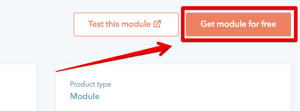 Install module from HubSpot CMS Marketplace