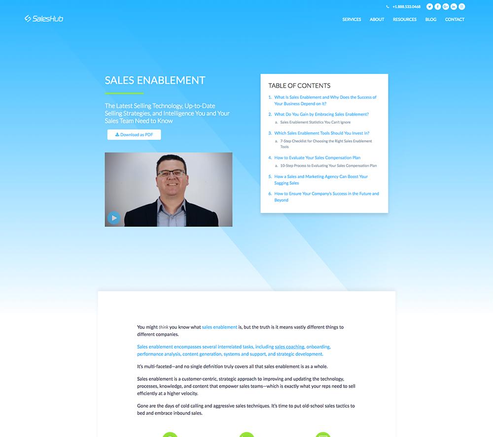 SalesHub Pillar Page - Desktop