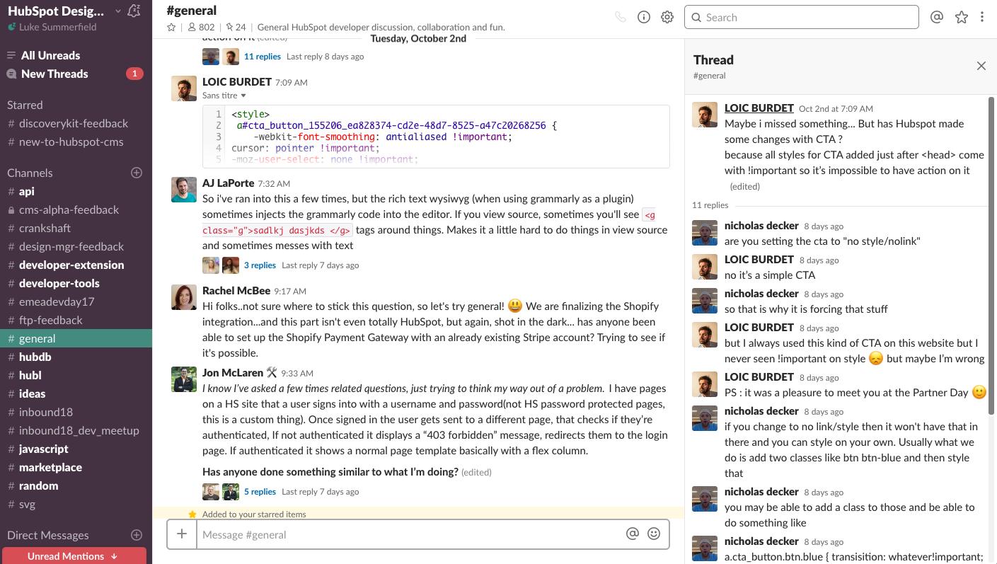 Join the HubSpot CMS Developer community Slack for technical help