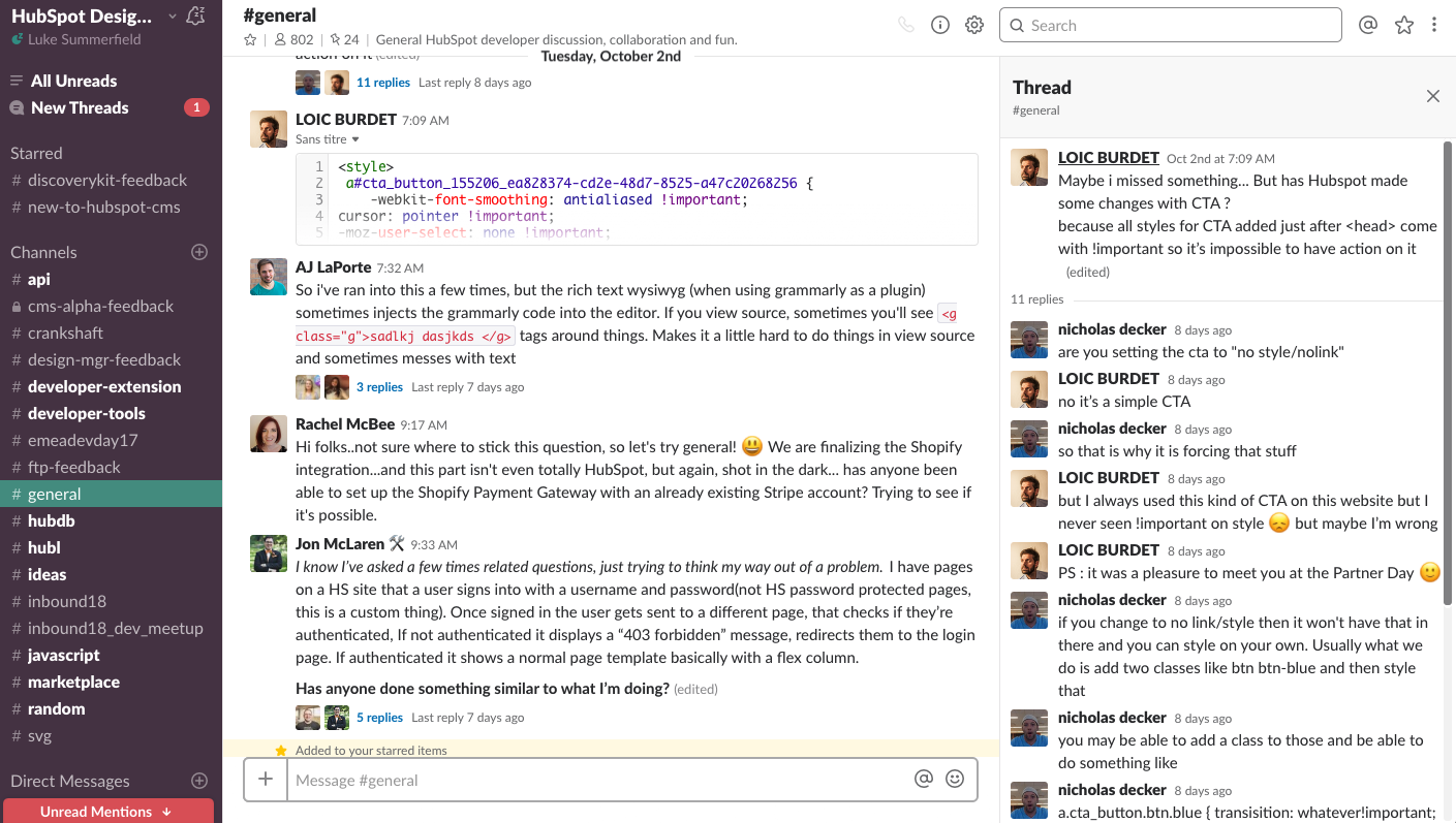 Join the HubSpot CMS Developer community Slack for technical help