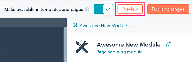 Preview Button in the Design Tools