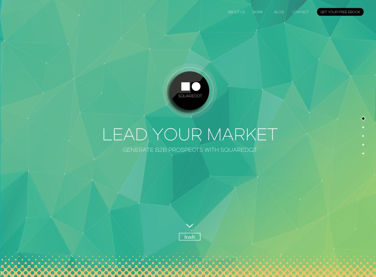 Squaredot Desktop Website