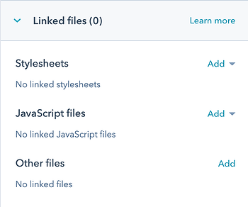 Linked Files Section in Custom Module
