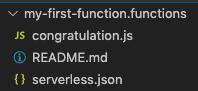 Serverless .functions folder