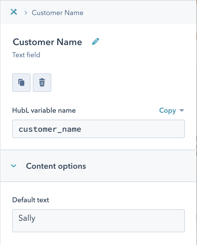 Text Field Example