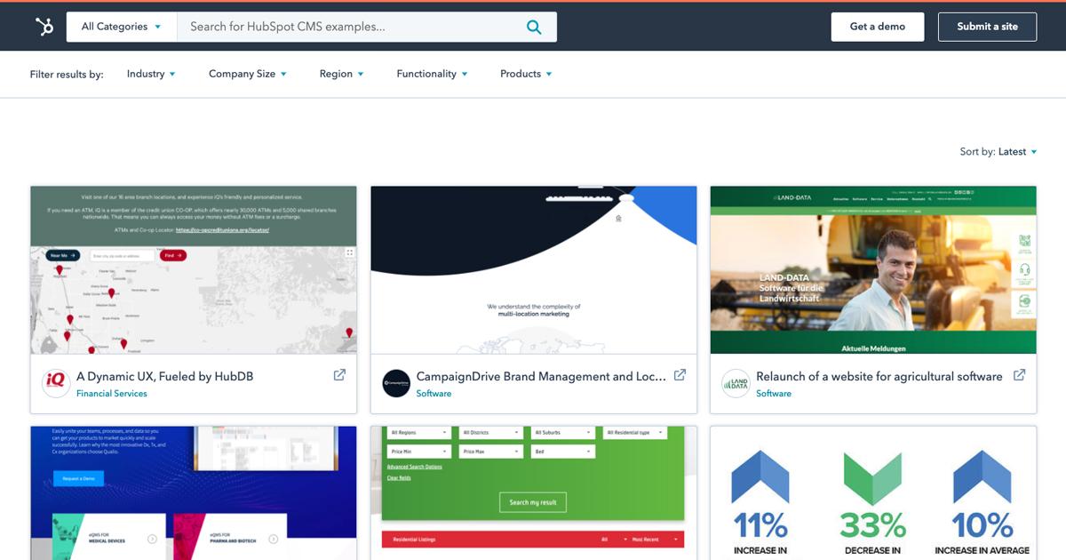 Software Website Examples Hubspot Cms